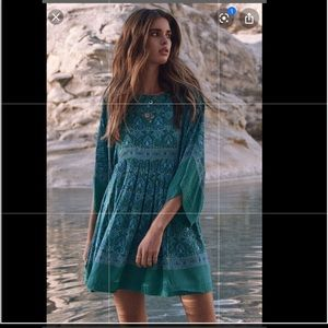 Spell Designs Jewel Soirée Tunic Dress jade green